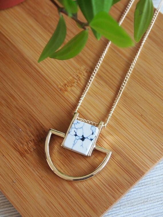 Image du produit Collier marbre marble necklace mode trend fashion pendentif pendant stone