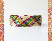 Friendship Bracelet Aztec Rainbow Dots women macrame Mexican gift ideas trends zigzag tribal dots plaid mayan colorful - Q'enqo Bracelets