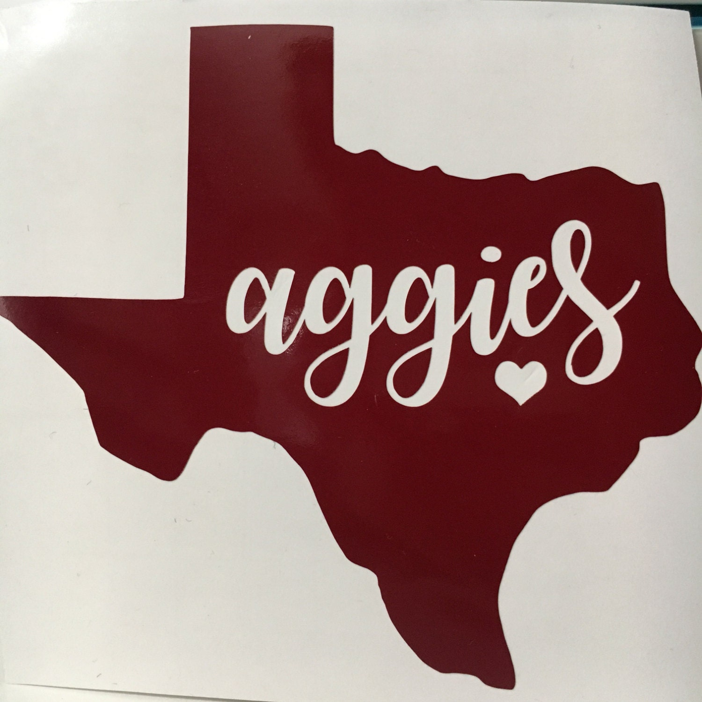 Texas A Amp M Sticker Texas Aggies Vinyl Tamu Decal Gig Em