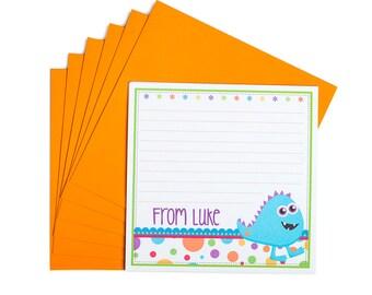 Personalised Monster Notecards
