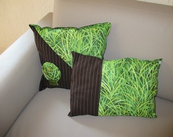 "Set of two cushions "" Nature, foliage """