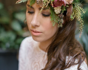 SALE- Stunning Long Sleeve Lace Wedding Dress Low Back , Split