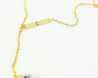 Lariat Initial Necklace