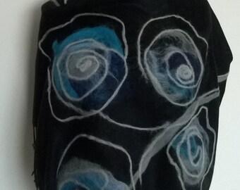 Needle felted scarf
