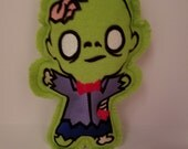 Zombie Stuffed Toy Plushie - Embroidered