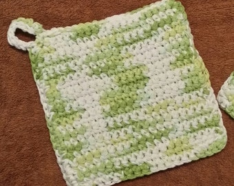 Potholders, Double Thick Cotton (set of 2)