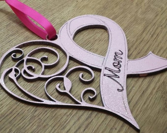 Breast Cancer Awareness Heart plaque. donation given to charity with every purchase