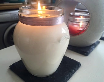 Homemade Natural Soy Wax 314ml Glass Orcio Jar Paraben Free Fragranced Candle