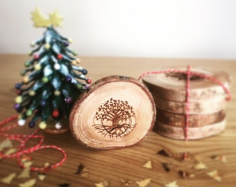 Tree Of Life Wood Coasters, Olive Tree,Drink Coasters,Tree Of Life Symbol,Coasters Custom,Wooden Coasters,Christmas Gift