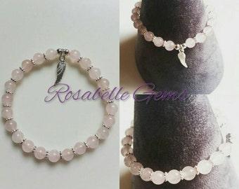 Rose Quartz, Bracelet, Heart Chakra, Rose Quartz Bracelet, Love Stone, Gemstone Bracelet, Valentines Gift, Gift For Her, Wife, Girlfriend