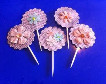Handmade cupcake picks (1 dozen)