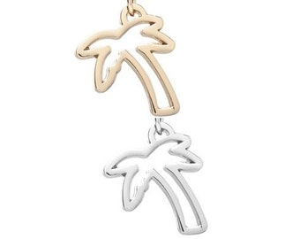 Palm Tree pendant (silver or gold tone) [5 pieces]