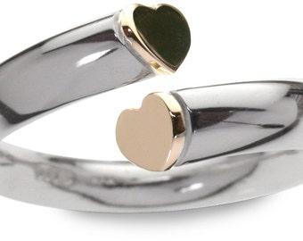Side heart ring
