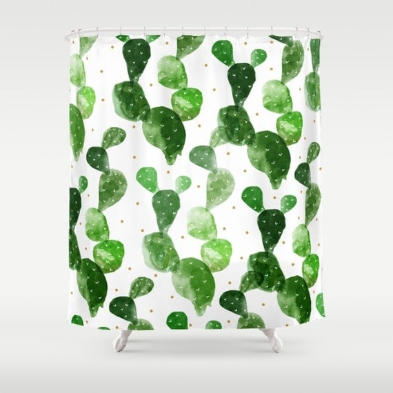Items similar to cacti shower curtain watercolor cactus