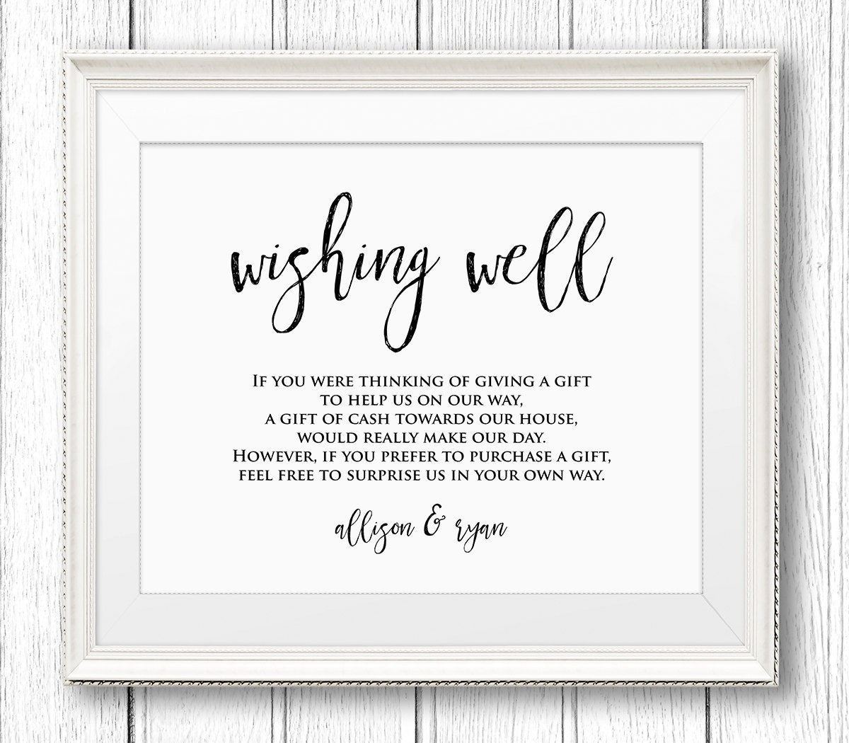 Wedding Wishing Well Sign Rustic Wedding Sign Template Instant Download Editable Text DIY