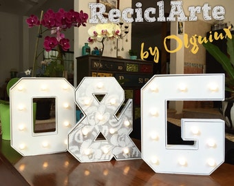 Illuminated letters with your initials