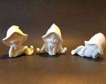 Ready to paint, Bisque fired set of pixies / sprites
