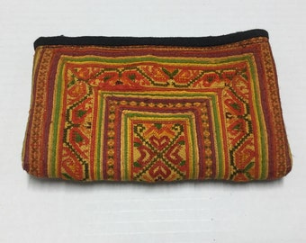 Tribal Vintage Hmong purse,Hmong Bag,Cross stitch bag cosmatic,Tribal Hmong purse, coin purse Hmong, Hmong bag, Vintage purse form thailand