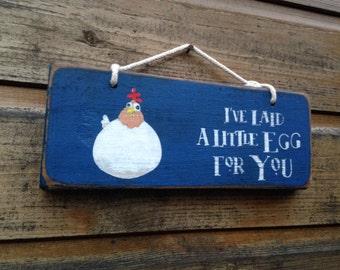 I've Laid a little Egg for You. Original wall art.
