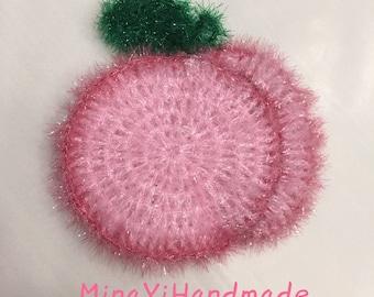 Eco-friendly Multi Purpose Dishcloth, Scrubber/Scrubby, Susemi (수세미) - Peach