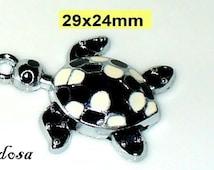 1 pendant, charms turtle enamelled 29 x 24 (K145. 29)