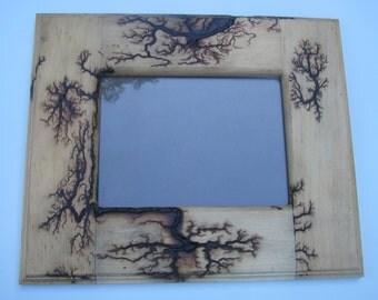5 x 7 lichtenberg handmade picture frame