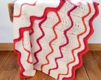 CROCHET BLANKET HANDMADE, chevron baby blanket, crochet baby blanket, chevron blanket, crochet blanket, newborn baby blanket, original