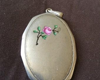 Vintage Silver Enameled Pendant 800-835