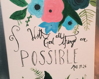 With God All Things Are Possible Canvas
