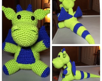 Amigurumi Crochet Dragon Plush Toy. Made to Order