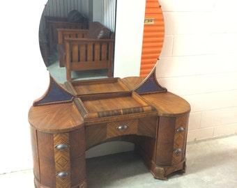 Art Deco Vanity Table with mirror