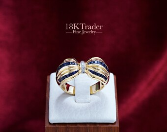 18K gold Sapphire Ring