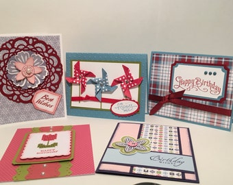 Birthday Cards - Variety Set of 5