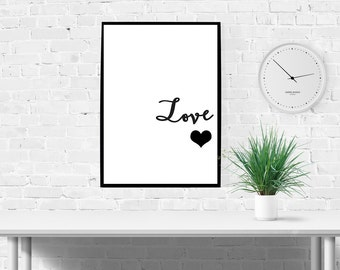 Love Print- Oversized poster wall art