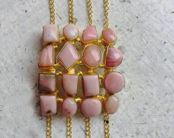 Rose Pink Rhodochrosite cuff