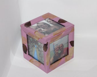Photo Memory Box with Petal Detail.