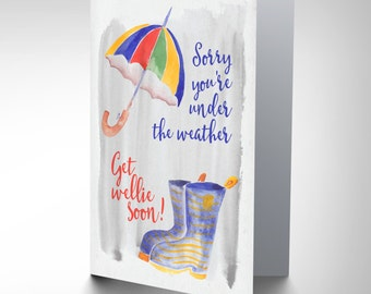 Card Get Well Soon Wellie Boot Pun Gift CP3013