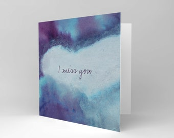 New  Miss You Paint Shades Friendship Art Greetings Greeting Card Cs1236