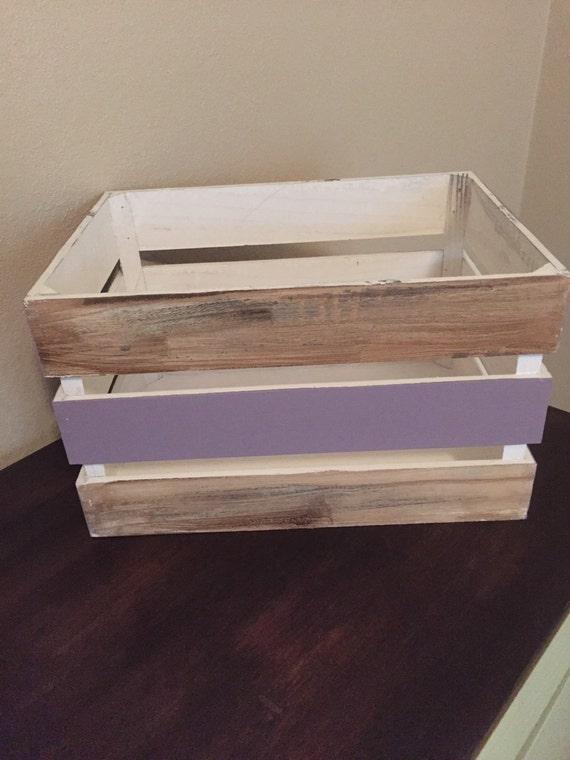 Wooden Crate Storage Toy Bin Flower Basket By Fancyfabfinds