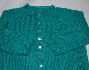 Hand Knit Cardigan Sweater
