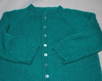 Hand Knit Cardigan Sweater