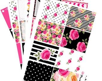 Bella Erin Condren planner stickers weekly stickers kit Rose garden glossy or matte stickers