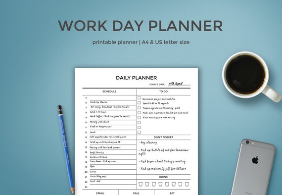 work day organizer