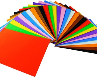 30 Craft Foam Sheets A4, 10 Assorted Colours