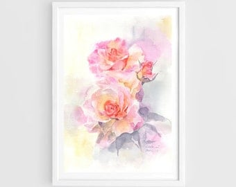 "Original watercolor,sweet flowers,flower garden,original painting,8""x12"",home decor"