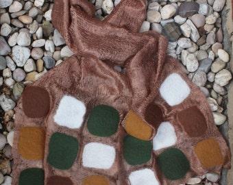 Nuno felted scarf, wool, silk, gold, bronze, scarve, gift, accssories