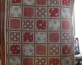 French Country Fabric Quilt Hand Made