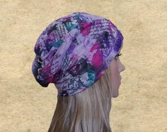 Summer hats beanie, Slouchy beanie hat, Slouch hats beanies, Fabric summer hats, Womens beanie slouch, Hippie slouch hats, Teen beanie hat