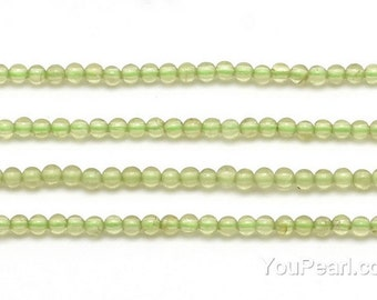 Peridot beads, 2mm round, small green gem stone beads strand, natural peridot stone, A grade loose gemstone beads, DIY jewelry, PRD2005