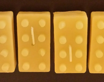 Beeswax LEGO Candles - Free Shipping